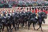 Major General's Review 2013: The Third and Forth Divisions of the Sovereign's Escort, The Blues and Royals, during the Ride Past.. Horse Guards Parade, Westminster, London SW1,  United Kingdom, on 01 June 2013 at 11:57, image #654
