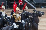 Major General's Review 2013: The Third and Forth Divisions of the Sovereign's Escort, The Blues and Royals, during the Ride Past.. Horse Guards Parade, Westminster, London SW1,  United Kingdom, on 01 June 2013 at 11:57, image #656