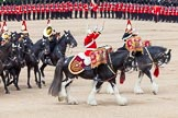 Major General's Review 2013: The two kettle drummers, about to salute Her Majesty, as the Mounted Bands are about to march off.. Horse Guards Parade, Westminster, London SW1,  United Kingdom, on 01 June 2013 at 11:58, image #660