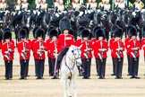 Major General's Review 2013: The Field Officer in Brigade Waiting, Lieutenant Colonel Dino Bossi, Welsh Guards, giving orders after the Ride Past.. Horse Guards Parade, Westminster, London SW1,  United Kingdom, on 01 June 2013 at 12:00, image #671