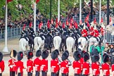 Major General's Review 2013: The Mounted Bands of the Household Cavalry are ready to leave, they follow the Royal Horse Artillery to march off via The Mall.. Horse Guards Parade, Westminster, London SW1,  United Kingdom, on 01 June 2013 at 12:02, image #679