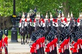 Major General's Review 2013: The six guards divisions have changed direction. Behind them, the Household Cavalry is leaving their position to march off.. Horse Guards Parade, Westminster, London SW1,  United Kingdom, on 01 June 2013 at 12:03, image #683