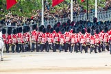 Major General's Review 2013: The March Off - the Massed Bands are leaving towards The Mall, followed by the coach that will carry HM The Queen and HRH The Duke of Kent.. Horse Guards Parade, Westminster, London SW1,  United Kingdom, on 01 June 2013 at 12:09, image #720