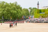 Major General's Review 2013: The March Off - the Massed Bands are leaving towards The Mall, followed by the coach that will carry HM The Queen and HRH The Duke of Kent.. Horse Guards Parade, Westminster, London SW1,  United Kingdom, on 01 June 2013 at 12:08, image #719