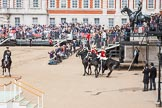Major General's Review 2013: The four troopers of The Life Guards.. Horse Guards Parade, Westminster, London SW1,  United Kingdom, on 01 June 2013 at 12:09, image #723