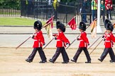 Major General's Review 2013: After the parade - the Keepers of the Ground, the first to arrive at Horse Guards Parade, are the last to leave.. Horse Guards Parade, Westminster, London SW1,  United Kingdom, on 01 June 2013 at 12:13, image #740