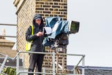 A BBC/SIS camera next to the chimney on the roof of the Cabinet Office.