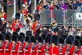 Trooping the Colour 2013: The Royal Colonels following HM The Queen in the Royal Procession, HRH The Duke of Cambridge, HRH The Prince of Wales, and HRH The Princess Royal.. Horse Guards Parade, Westminster, London SW1,  United Kingdom, on 15 June 2013 at 10:58, image #259
