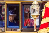 Trooping the Colour 2013: HM The Queen and HRH The Duke of Kent in the Glass Coach arriving on Horse Guards Parade.. Horse Guards Parade, Westminster, London SW1,  United Kingdom, on 15 June 2013 at 10:59, image #274