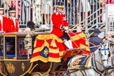 Trooping the Colour 2013: The Glass Coach carrying HM The Queen and HRH The Duke of Kent arrives as Horse Guards Parade.. Horse Guards Parade, Westminster, London SW1,  United Kingdom, on 15 June 2013 at 10:59, image #275