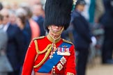 Trooping the Colour 2013: Close-up of HRH The Prince of Wales, Colonel Welsh Guards, on horseback during the Inspection of the line.. Horse Guards Parade, Westminster, London SW1,  United Kingdom, on 15 June 2013 at 11:02, image #307
