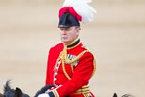Trooping the Colour 2013: The Chief of Staff, Colonel Hugh Bodington, Welsh Guards, during the Inspection of the Line.. Horse Guards Parade, Westminster, London SW1,  United Kingdom, on 15 June 2013 at 11:02, image #323
