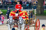 Trooping the Colour 2013: After the Inspection of the Line, the Glass Coach with HM The Queen turns back toward the dais for Her Majesty.. Horse Guards Parade, Westminster, London SW1,  United Kingdom, on 15 June 2013 at 11:06, image #355