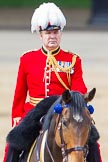 Trooping the Colour 2013: The Chief of Staff, Colonel Hugh Bodington, Welsh Guards, on horseback after the Inspection of the Line.. Horse Guards Parade, Westminster, London SW1,  United Kingdom, on 15 June 2013 at 11:07, image #381