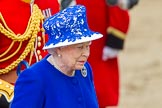 Trooping the Colour 2013: Close-up of HM The Queen on the way to dais after the Inspection of the Line.. Horse Guards Parade, Westminster, London SW1,  United Kingdom, on 15 June 2013 at 11:08, image #385
