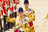 Trooping the Colour 2013: Drum Major D P Thomas, Grenadier Guards, and Senior Drum Major M J Betts, Grenadier Guards.. Horse Guards Parade, Westminster, London SW1,  United Kingdom, on 15 June 2013 at 11:52, image #644