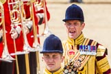 Trooping the Colour 2013: Drum Major D P Thomas, Grenadier Guards, and Senior Drum Major M J Betts, Grenadier Guards, commanding.. Horse Guards Parade, Westminster, London SW1,  United Kingdom, on 15 June 2013 at 11:52, image #645