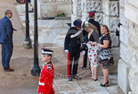 Trooping the Colour 2013 (spectators): Spectators arriving at Horse Guards Arch. Image #933, 15 June 2013 08:58