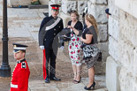 Trooping the Colour 2013: The first spectators arriving at Horse Guards Parade. Spectators are covered in a separate image library. Image #18, 15 June 2013 08:58 Horse Guards Parade, London, UK