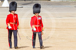 Trooping the Colour 2013: The second pair of officers following the Keepers of the Ground, Lieutenant E C S Birrel and Major J D Salusbury, No. 2 Guard, 1st Battalion Welsh Guards. Image #30, 15 June 2013 09:55 Horse Guards Parade, London, UK