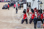 Trooping the Colour 2013: The Keepers of the Ground are marching back onto Horse Guards Parade, to mark the position of their regiments that will arrive shortly. Image #53, 15 June 2013 10:15 Horse Guards Parade, London, UK