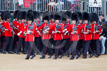Trooping the Colour 2013: No. 6 Guard, No. 7 Company Coldstream Guards, led by Colour Sergeant T I Pal. is turning into their initial position on Horse Guards Parade. Image #76, 15 June 2013 10:22 Horse Guards Parade, London, UK