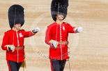 Trooping the Colour 2013: Lieutenant ???, No. 3 Guard, 1st Battalion Welsh Guards, and Lieutenant H C Cartwright, No. 4 Guard, Nijmegen Company Grenadier Guards. Image #112, 15 June 2013 10:31 Horse Guards Parade, London, UK