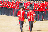 Trooping the Colour 2013: The Subaltern of No. 1 Guard, Captain F O Lloyd-George, and the Subaltern of No. 2 Guard, Captain B Bardsley, are marching together to Horse Guards Arch. They will return later, with the other 16 officers, three for each guard. Image #120, 15 June 2013 10:33 Horse Guards Parade, London, UK