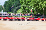 Trooping the Colour 2013: The King's Troop Royal Horse Artillery arrives, and will take position between No. 1 Guard and St. James's Park. Image #148, 15 June 2013 10:39 Horse Guards Parade, London, UK