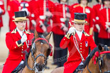 Trooping the Colour 2013: The two grooms salute with their whips when passing the Colour. Image #197, 15 June 2013 10:49 Horse Guards Parade, London, UK