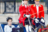 Trooping the Colour 2013: HRH Princess Beatrice of York in the second barouche carriage on the way across Horse Guards Parade to watch the parade from the Major General's office. Image #198, 15 June 2013 10:50 Horse Guards Parade, London, UK