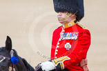 Trooping the Colour 2013: Colonel Coldstream Guards General Sir James Bucknall during the Inspection of the Line. Image #318, 15 June 2013 11:02 Horse Guards Parade, London, UK