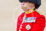 Trooping the Colour 2013: Close-up of Colonel Coldstream Guards General Sir James Bucknall during the Inspection of the Line. Image #319, 15 June 2013 11:02 Horse Guards Parade, London, UK