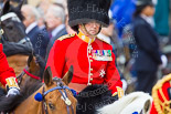 Trooping the Colour 2013: Foot Guards Regimental Adjutant Colonel T C R B Purdon, Irish Guards, during the Inspection of the Line. Image #328, 15 June 2013 11:03 Horse Guards Parade, London, UK