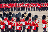 Trooping the Colour 2013: The Massed Band Troop -  the slow march is the Waltz from Les Huguenots. Image #400, 15 June 2013 11:10 Horse Guards Parade, London, UK