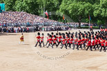 Trooping the Colour 2013: The Massed Band Troop - the final stages of the countermarch. Image #415, 15 June 2013 11:13 Horse Guards Parade, London, UK