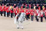 Trooping the Colour 2013: The Field Officer in Brigade Waiting, Lieutenant Colonel Dino Bossi, Welsh Guards,moves forward before the Colour changes hands. Image #450, 15 June 2013 11:20 Horse Guards Parade, London, UK