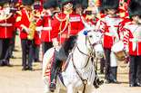 Trooping the Colour 2013: The Field Officer in Brigade Waiting, Lieutenant Colonel Dino Bossi, Welsh Guards, during the National Anthem after the Colour has been handed over to the Ensign. Image #468, 15 June 2013 11:21 Horse Guards Parade, London, UK