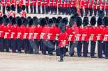 Trooping the Colour 2013: The Colour Party joins the Escort to the Colour, here Colour Sergeant, R J Heath, Welsh Guards, at the rear of the two lines of guardsmen. Image #474, 15 June 2013 11:22 Horse Guards Parade, London, UK