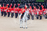 Trooping the Colour 2013: The Field Officer in Brigade Waiting, Lieutenant Colonel Dino Bossi, Welsh Guards, whilst the Esort to the Colour starts to advance in slow time. Image #475, 15 June 2013 11:22 Horse Guards Parade, London, UK