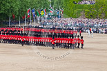 Trooping the Colour 2013: The Escort to the Colour is advancing in slow time. Image #476, 15 June 2013 11:22 Horse Guards Parade, London, UK