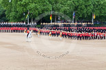 Trooping the Colour 2013: The Massed Bands playing whilst the Escort to the Colour advances in slow time. Image #477, 15 June 2013 11:23 Horse Guards Parade, London, UK