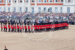 Trooping the Colour 2013: The Escort Tto the Colour performing a 90-degree-turn. Image #479, 15 June 2013 11:23 Horse Guards Parade, London, UK