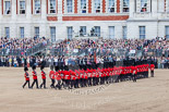 Trooping the Colour 2013: The Escort Tto the Colour performing a 90-degree-turn. Image #481, 15 June 2013 11:24 Horse Guards Parade, London, UK