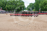 Trooping the Colour 2013: The five Massed Bands are playing the Grenadiers Slow March during the trooping of the Colour through the ranks. Image #493, 15 June 2013 11:25 Horse Guards Parade, London, UK