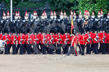 Trooping the Colour 2013: The Ensign troops the Colour along No. 3 Guard, 1st Battalion Welsh Guards. Image #499, 15 June 2013 11:26 Horse Guards Parade, London, UK