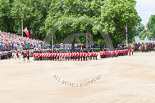 Trooping the Colour 2013: The Field Officer in Brigade Waiting, Lieutenant Colonel Dino Bossi, Welsh Guards, and the Major of the Parade, Major H G C Bettinson, Welsh Guards, leading the March Past. Image #526, 15 June 2013 11:32 Horse Guards Parade, London, UK