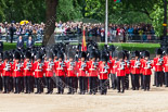 Trooping the Colour 2013: No. 1 Guard (Escort to the Colour),1st Battalion Welsh Guards, at the begin of the March Past. Image #527, 15 June 2013 11:33 Horse Guards Parade, London, UK