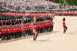 Trooping the Colour 2013: The March Past in Slow Time - the Ensign, Second Lieutenant Joel Dinwiddle, in front of No. 1 Guard, the Escort to the Colour. Image #537, 15 June 2013 11:35 Horse Guards Parade, London, UK