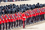 Trooping the Colour 2013: No. 4 Guard, Nijmegen Company Grenadier Guards, during the March Past, in front, with his sword drawn, Second Lieutenant D R Wellham. Image #545, 15 June 2013 11:37 Horse Guards Parade, London, UK